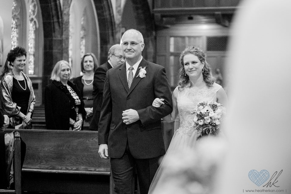 Saint Ambrose Church Grosse Pointe MI wedding ceremony photo