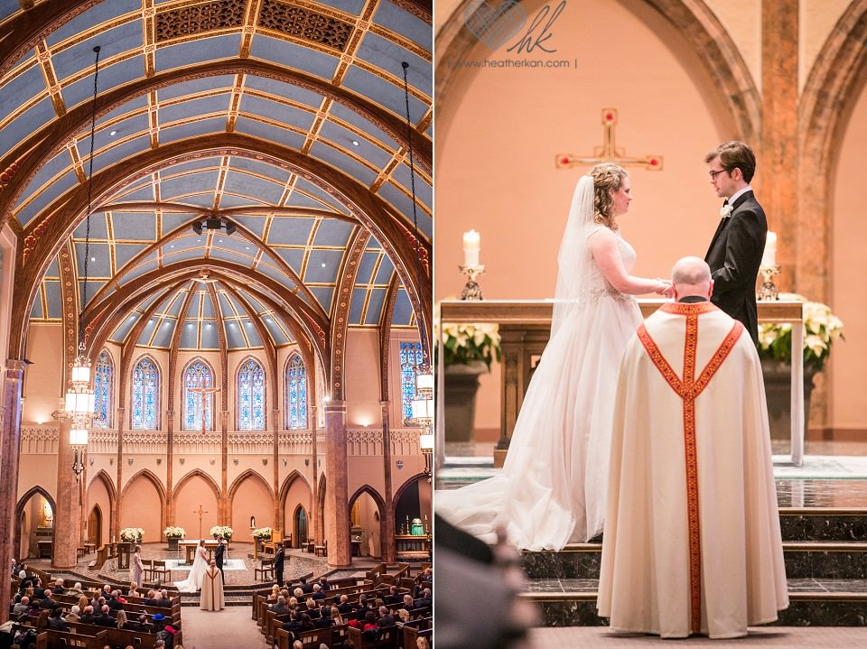 Saint Ambrose Church Grosse Pointe MI wedding ceremony photographer