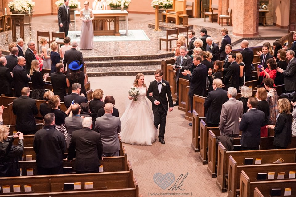 Saint Ambrose Church Grosse Pointe MI wedding ceremony photographers