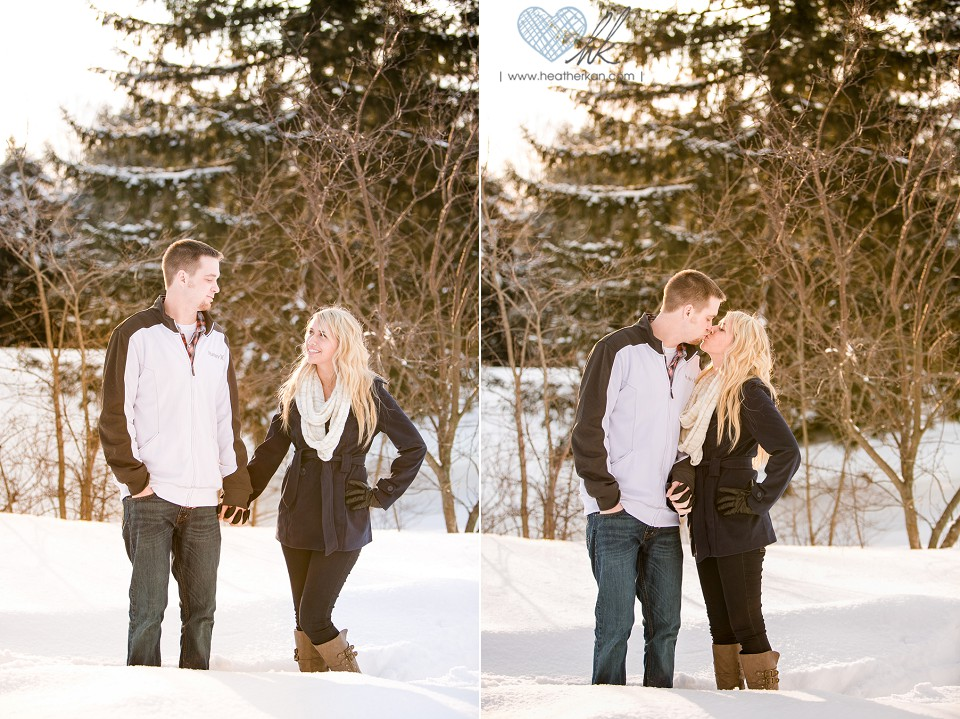 Grand Ledge winter engagement photographs