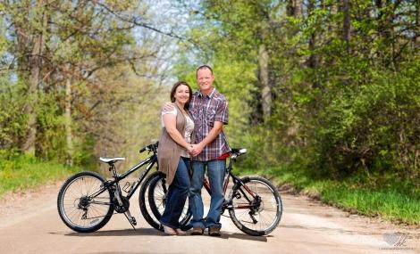 Howell biking Engagement photographers bikes