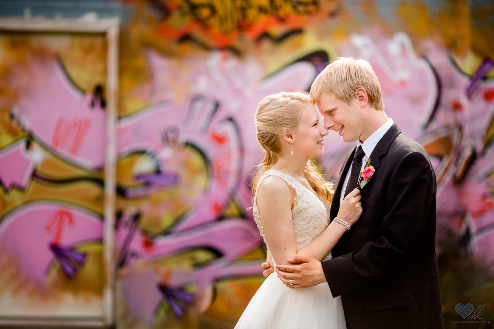 Old Town Lansing Michigan graffiti wedding photographers