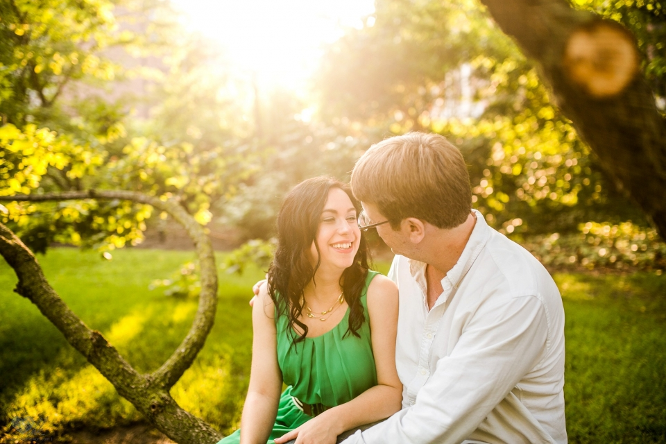 Michigan State University engagement session