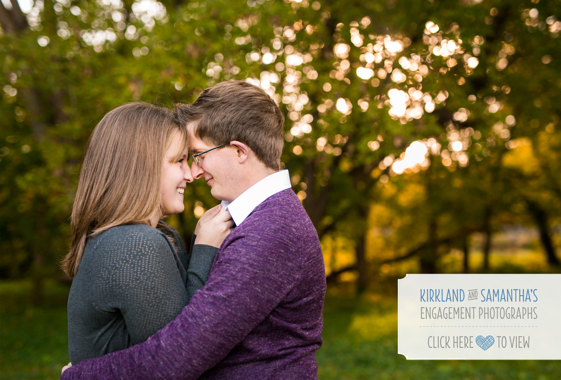 Fall engagement session Northville Michigan