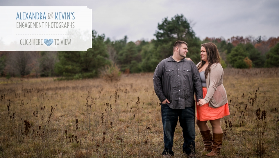 rainy fall engagement photographs michigan