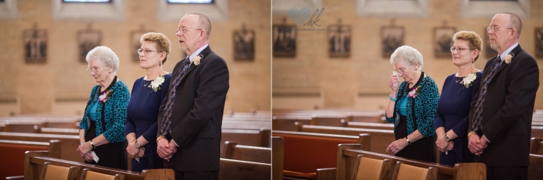 wedding photographs at Church of the Resurrection in Lansing MI- bride's entrance