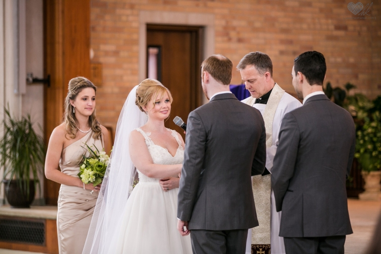 wedding photographs at Church of the Resurrection in Lansing MI