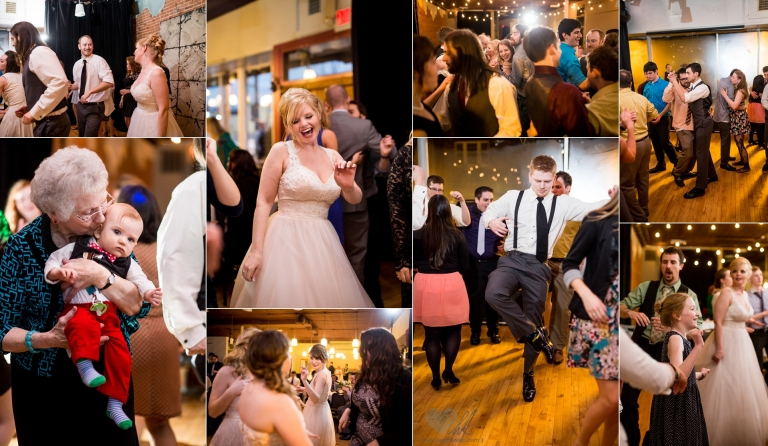 Old Town Marquee Lansing, MI, Wedding Reception dance floor photographs