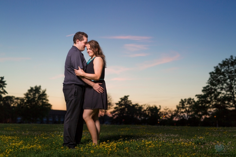 MSU engagement session sunset sky photographs
