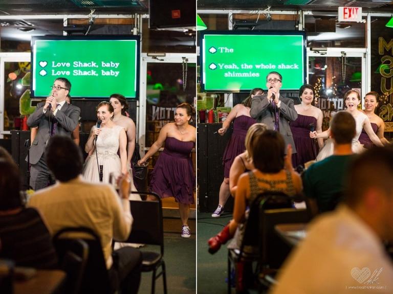 Wedding day karaoke at Crunchy's sports bar in East Lansing MSU