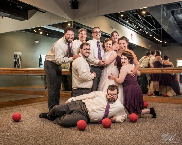 Pure Barre wedding photos