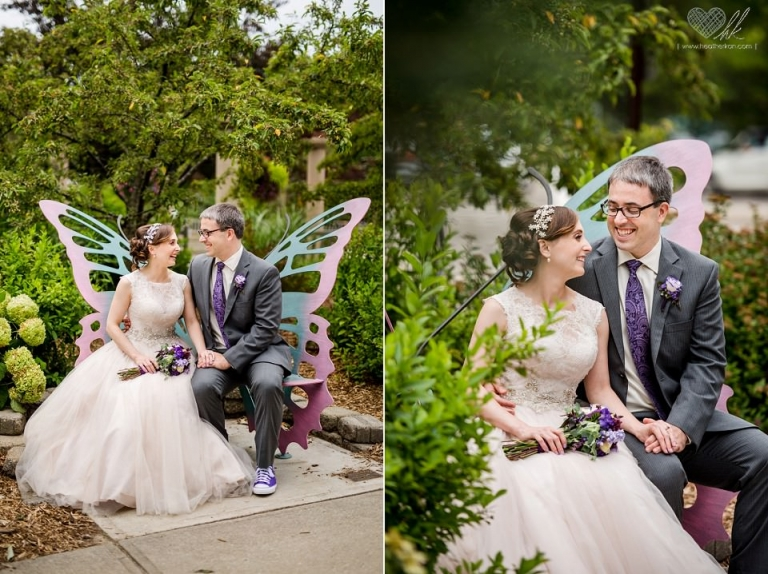 Horticulture Gardens MSU wedding photographs