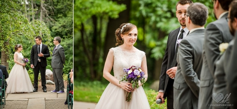 Outdoor wedding ceremony at Kellogg Center MSU East Lansing