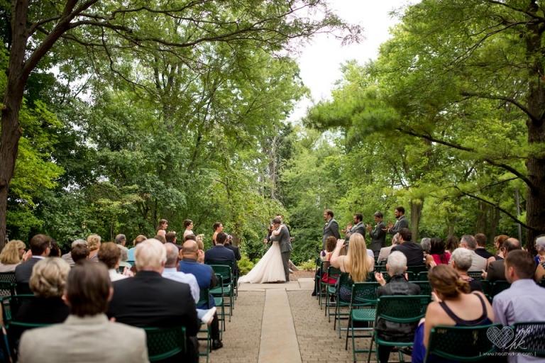 East Patio Outdoor wedding ceremony at Kellogg Center MSU East Lansing