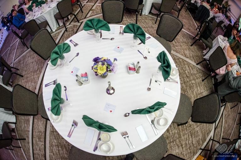 Kellogg Center MSU East Lansing wedding reception decor