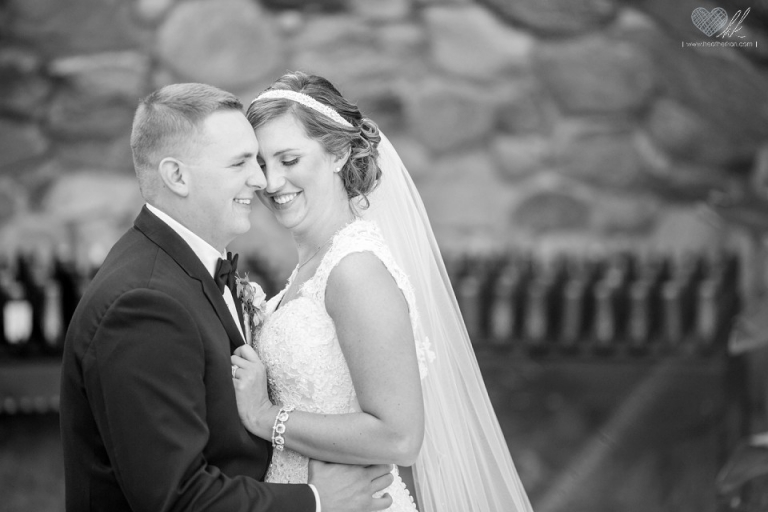wedding photographs in the Our Lady of Good Counsel Plymouth MI grotto