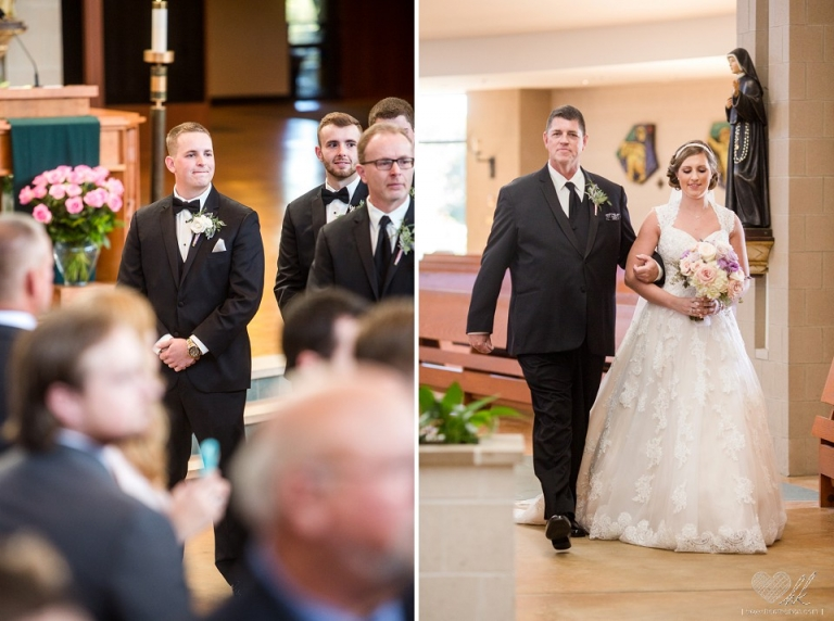 wedding ceremony at Our Lady of Good Counsel Plymouth MI