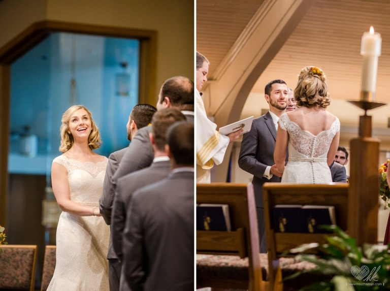 wedding photographs at the Saint Gerard Church