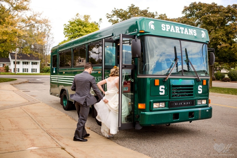 Spartan bus limo wedding