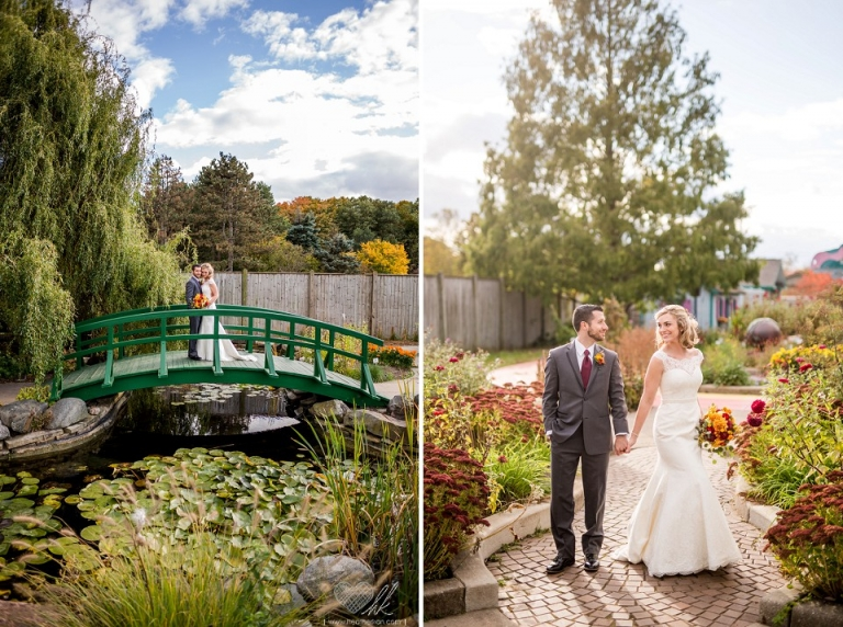 Wedding photographs at the Children's Garden MSU