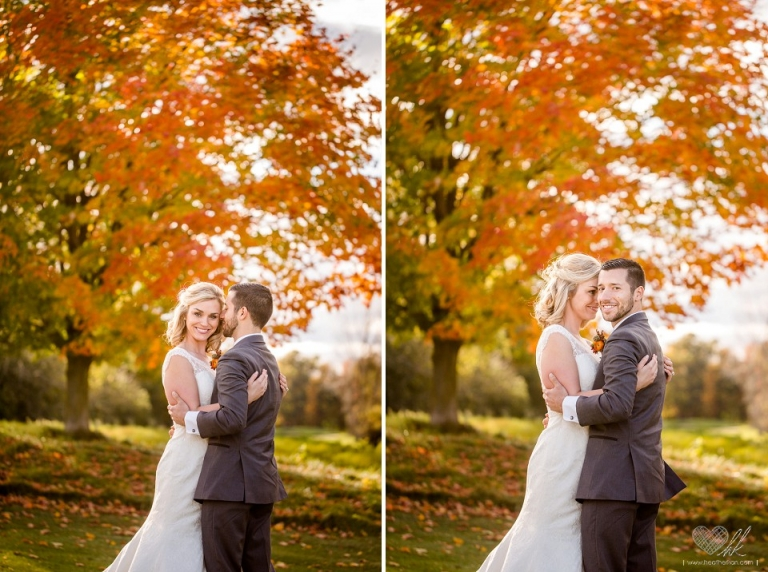Hawk Hollow fall wedding photographs
