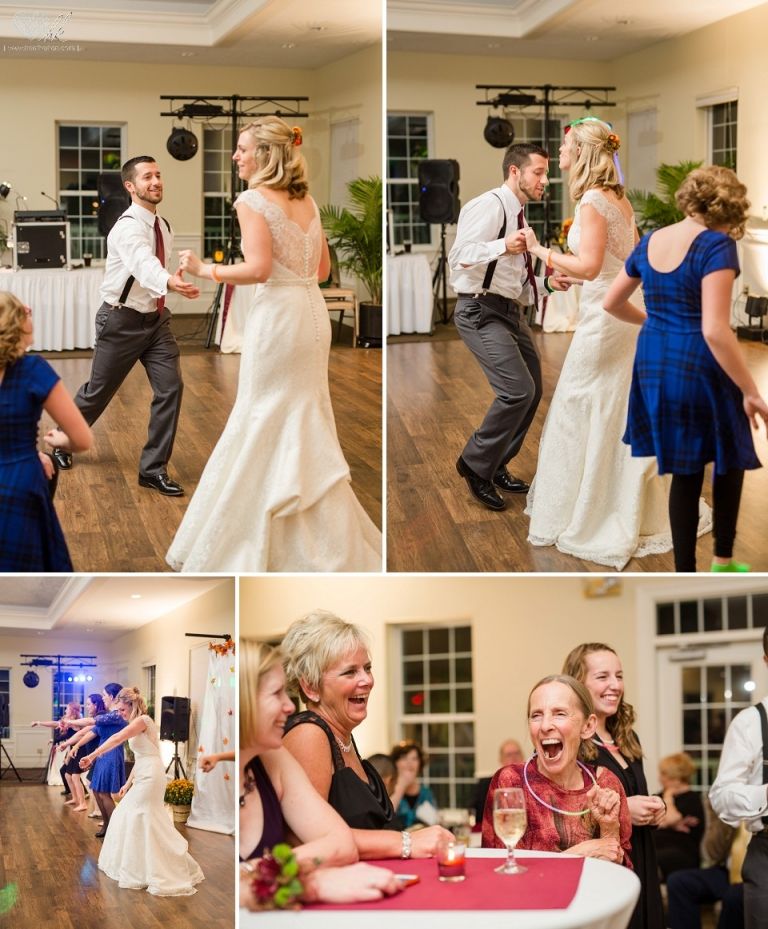 Hawk Hollow wedding reception wedding photographs dances