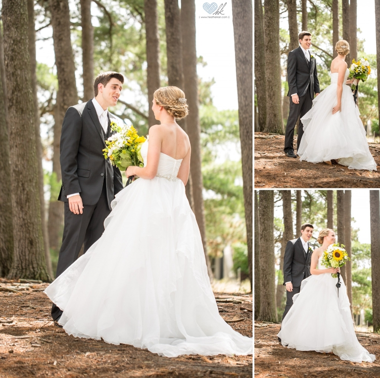 MSU Horticulture Gardens Wedding first look