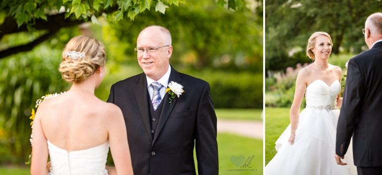 MSU Horticulture Gardens Wedding first look