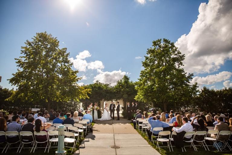 MSU Horticulture Gardens Wedding first lookMSU Horticulture Gardens Wedding ceremony outdoor