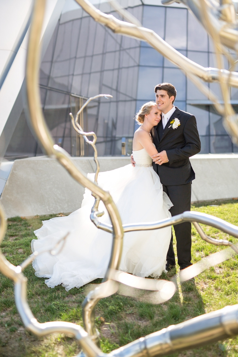 Eli and Edythe Broad Art Museum wedding photographs