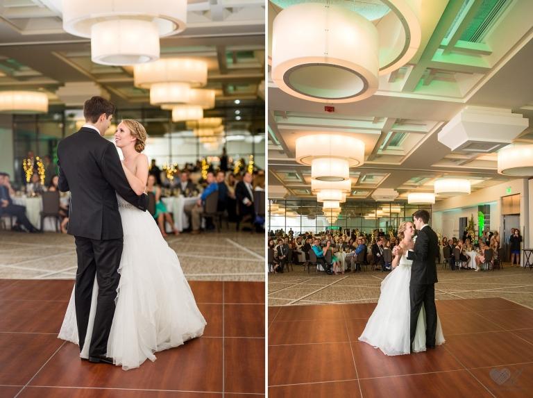 Kellogg Center wedding reception first dance photos