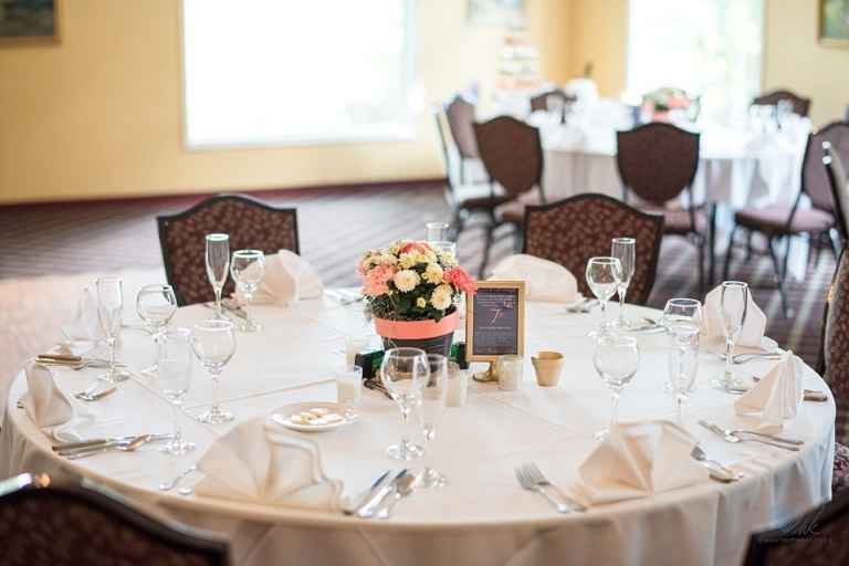 English Inn wedding reception decor