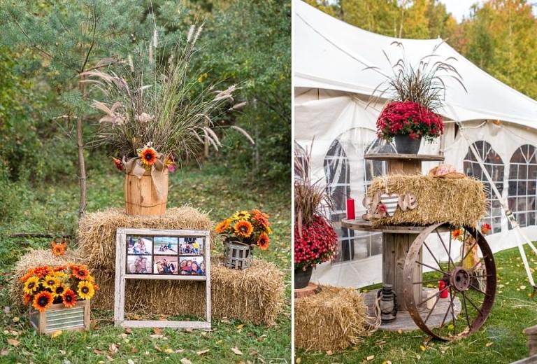 Beau Fall Country Backyard Wedding Decor Fall Country Backyard Wedding Decor ...