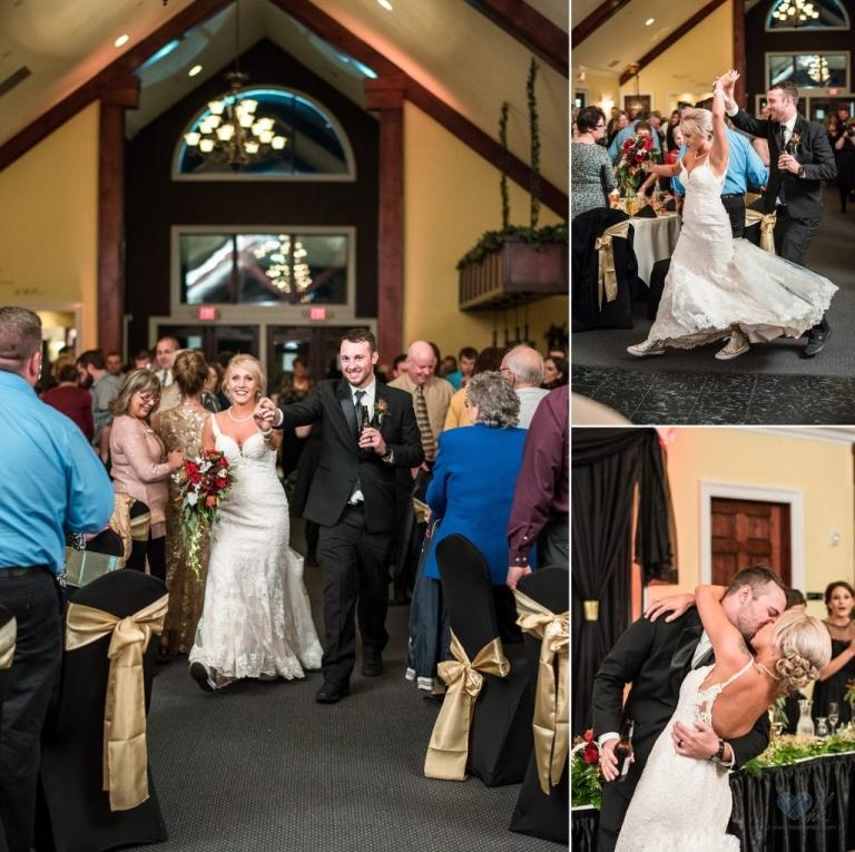 Golden Glow Ballroom wedding reception