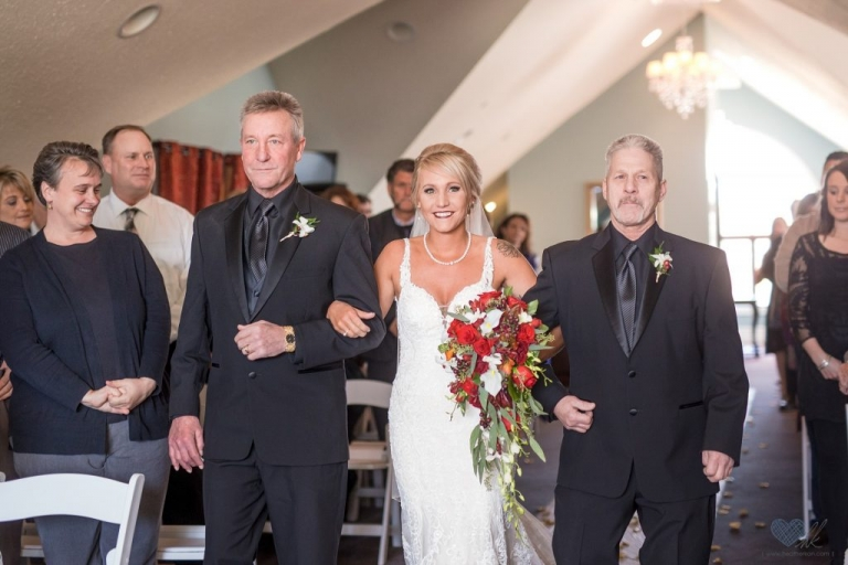 Golden Glow Ballroom wedding ceremony