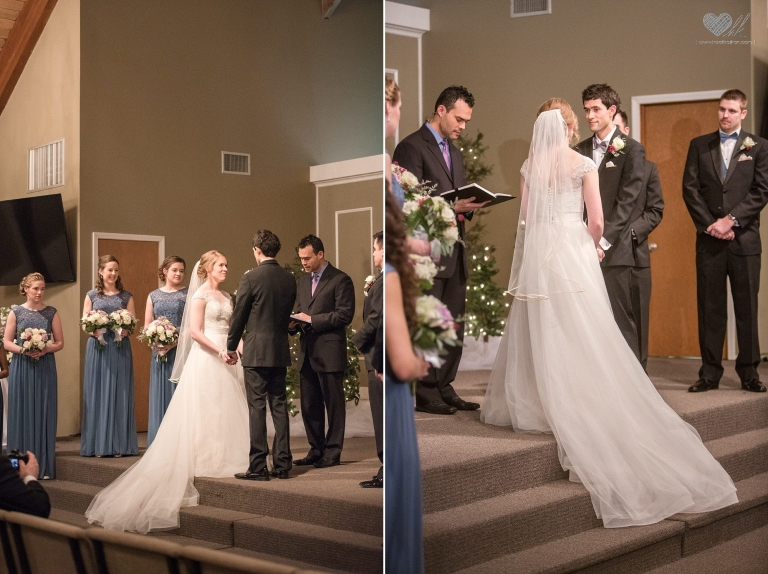 Wedding ceremony at Woodside Bible Church, Plymouth Michigan