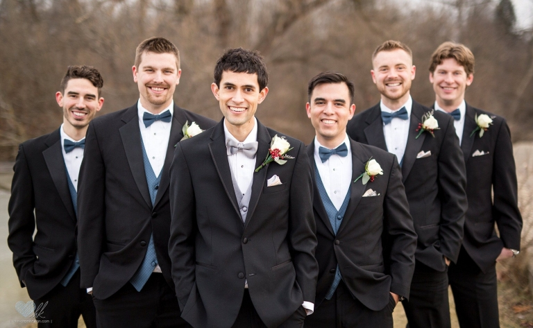 Winter wedding photographs in Plymouth, Michigan
