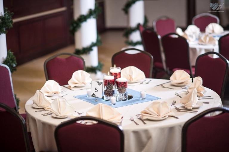 Northville Hills Golf Club winter reception decor