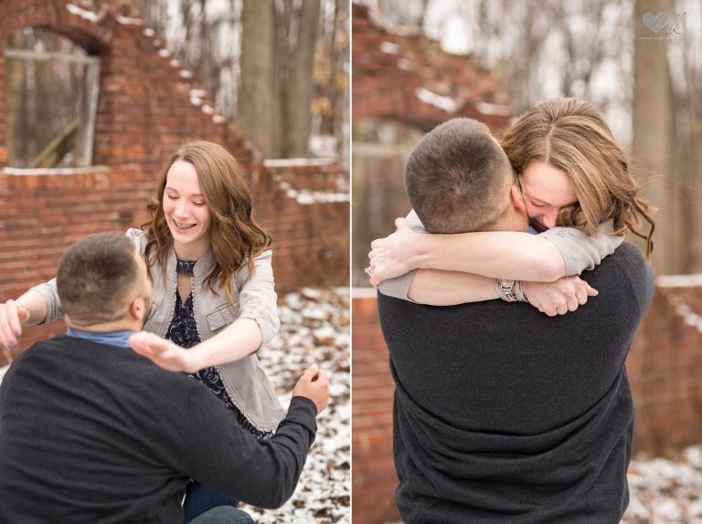 Proposal photographs at the Lincoln Brick Park, Grand Ledge, MI