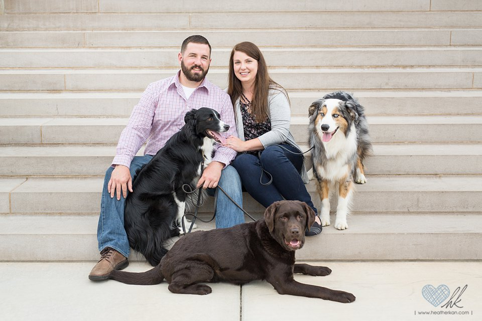Engagement session with dogs Lansing Michigan