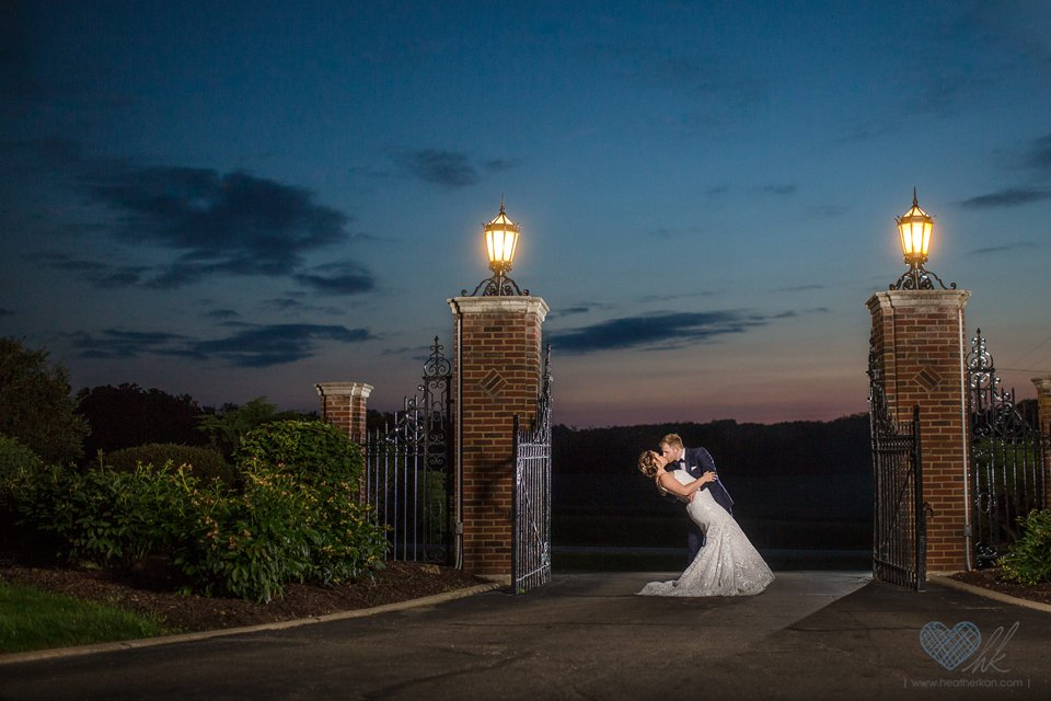 English Inn sunset wedding photographs Eaton Rapids