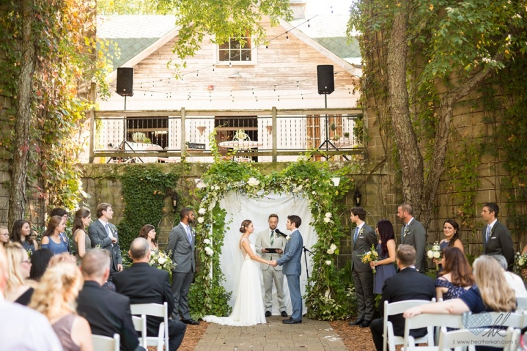 Blue Dress Barn wedding ceremony
