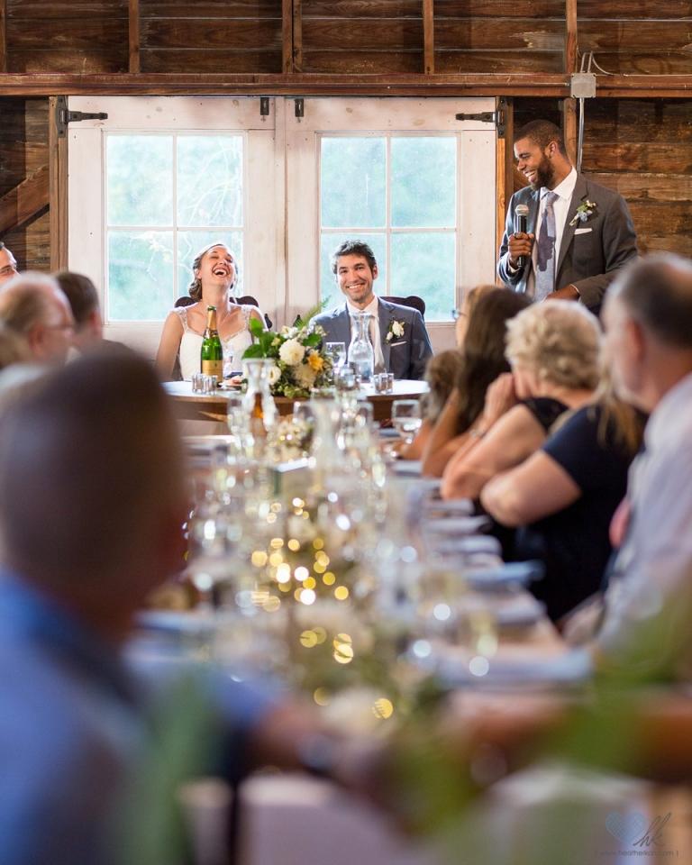 Blue Dress Barn wedding reception