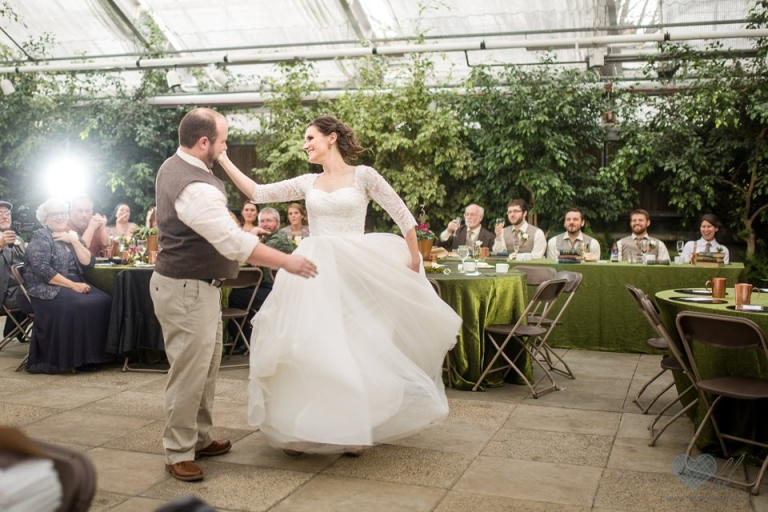 MSU Horticulture Greenhouse wedding reception