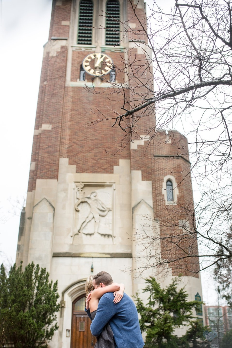 proposal photographs at Beaumont Tower, MSU