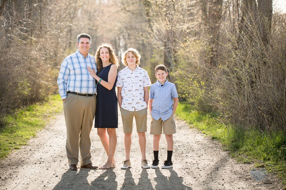 family photographs at Grand Ledge's Lincoln Brick Park