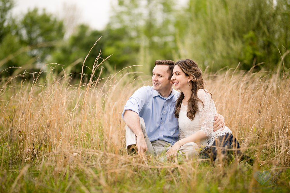 Lincoln Brick Park Grand Ledge spring engagement photographs