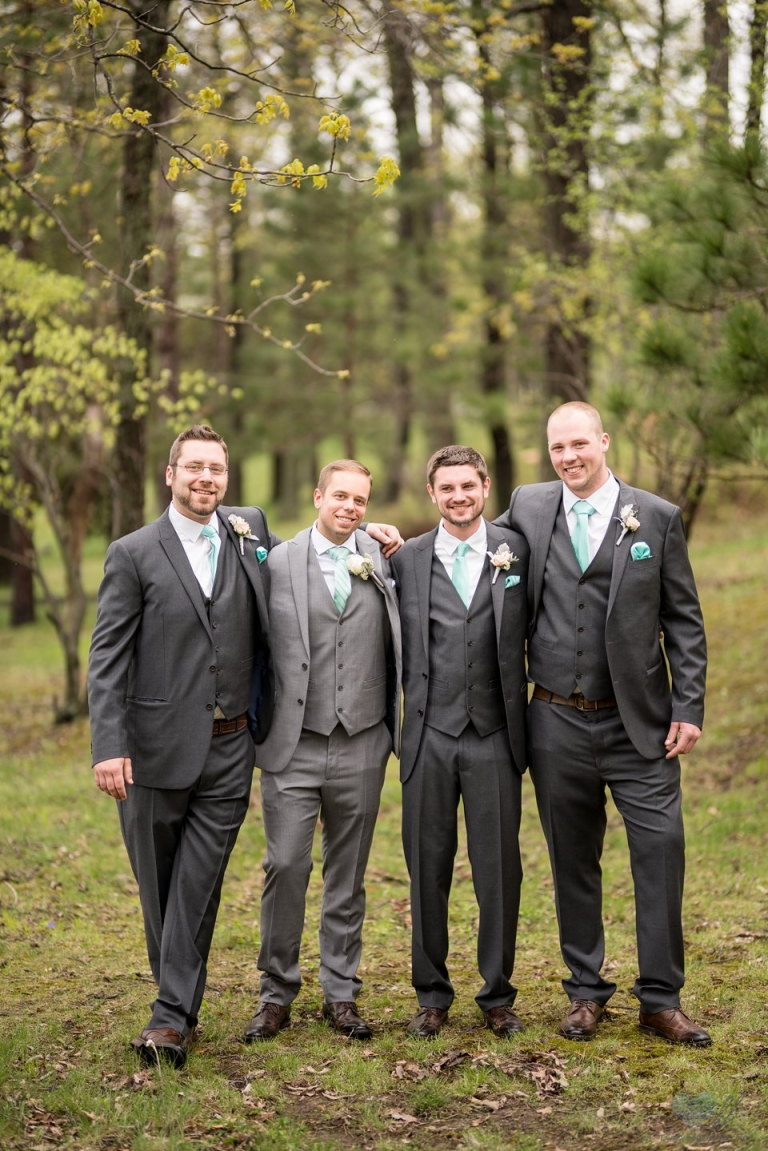 wedding bridal party photographs at Waldenwoods Banquet & Conference Center