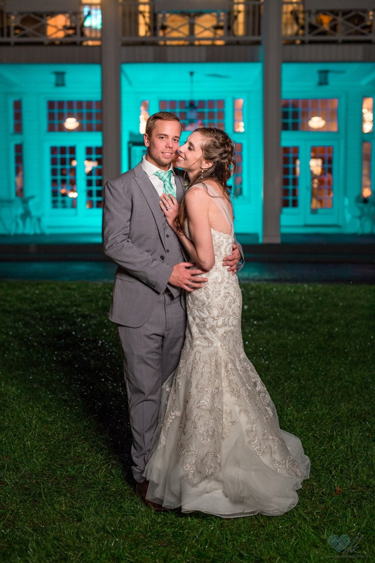 Banquet & Conference Center nighttime wedding photographs