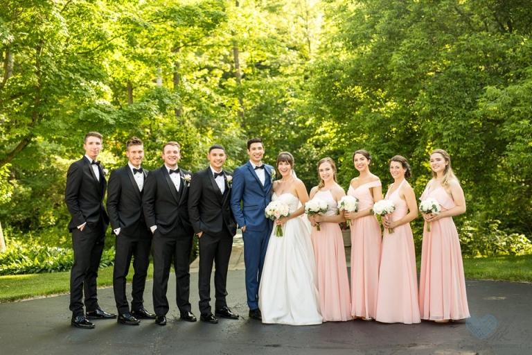 Wheatfield Inn Michigan summer bridal party photographs